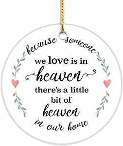VILIGHT Sympathy and Memorial Gifts for Loss of Loved One - Remembrance and Bereavement Keepsake Ornaments with Tag - 2.75 Inch