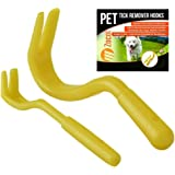 Tick Hook Remover Removal Tool, Remove Ticks On Dogs, Cats, Other Pets and Humans. Easy To Use, Pocket Instructions Included - Pack of 2 Hooks