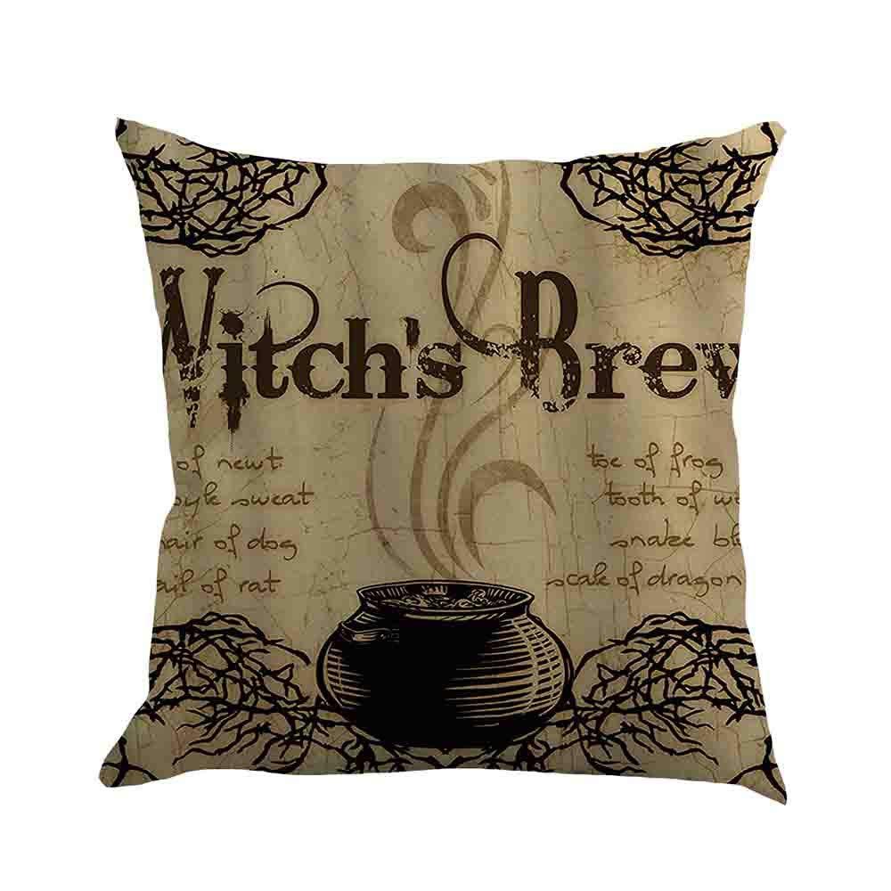 Happy Halloween Pillow Case Sofa Waist Throw Cushion Cover-2018Newest Home Decor (F, One Size)