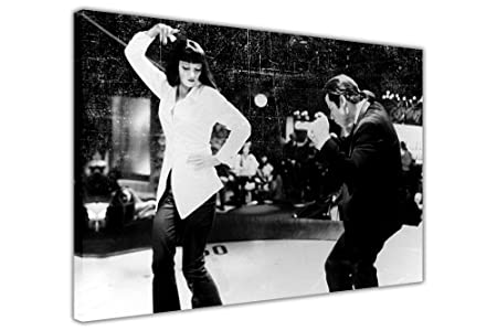 PULP FICTION PRINTS DANCE OFF FILM PICTURES FRAMED CANVAS WALL ART MOVIE POSTER SIZE A4