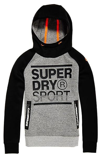 Superdry Gym Tech Emboss Print Overhead, Sudadera para Hombre: Amazon.es: Ropa y accesorios