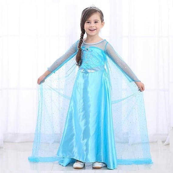 Little Girls Snow Queen Elsa fiesta Outfit disfraz princesa Cosplay - cielo azul, azul: Amazon.es: Bricolaje y herramientas