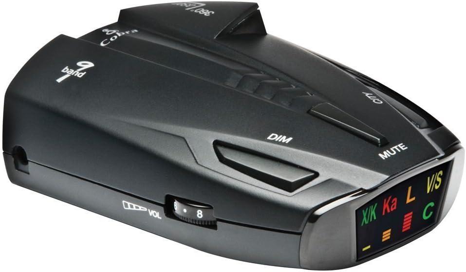 Cobra® ESD7570-360 Degree Detection,9 Band, Radar/Laser Detector, Fewer False Alerts, Ultrabright Display, VG-2 Immunity, Safety Alert, City/Highway Modes