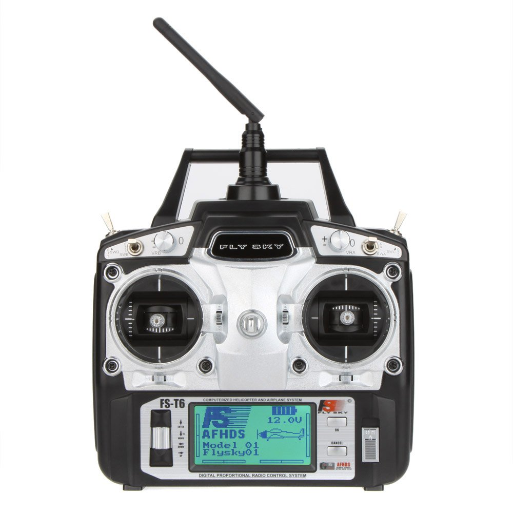FlySky FS-T6 2.4G Helicopter Digital Proportional 6 Channel Transmitter and and and Receiver System by Flysky e4a074
