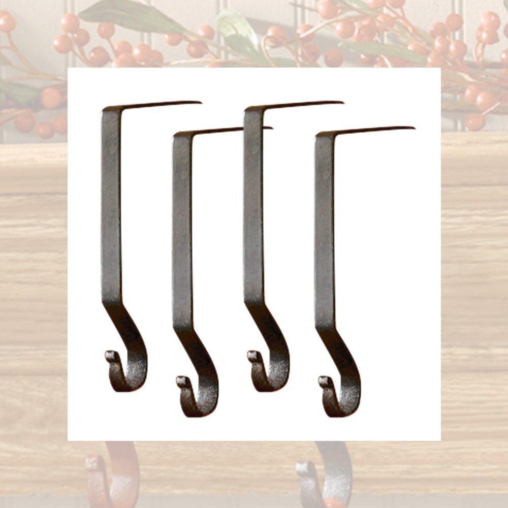 amazon com iron plain stocking hanger 4 pack black home