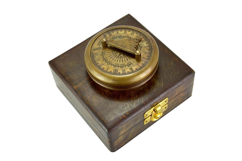 650045242585 Goodハンドメイドポケットコンパス時間リーダーと安全木製ボックス B073TZVGDR