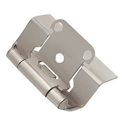 Hickory Hardware P5710F SN Semi Concealed Full Wrap Hinge, Satin Nickel