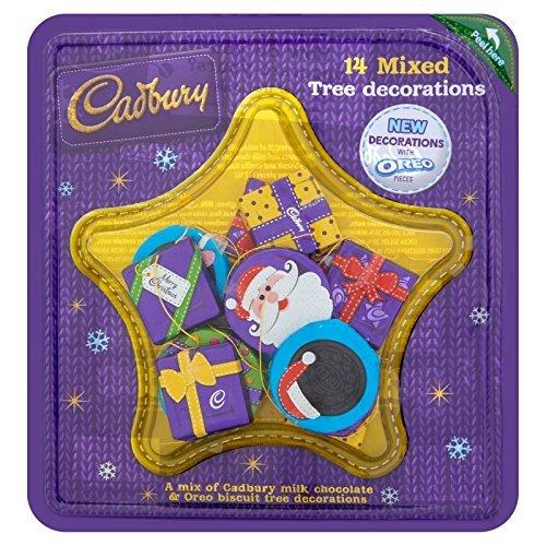 Christmas Tree Chocolates Cadbury - Cadbury Dairy Milk Mixed Chocolate Tree Decoration With Oreo Pieces, 136 g