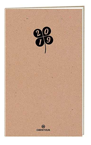 Agenda Civil 2019 Oberthur - Agenda 100% Recyclé 70 gr - Janvier à déc - 1 jour par Page - 21.5 x 14 cm