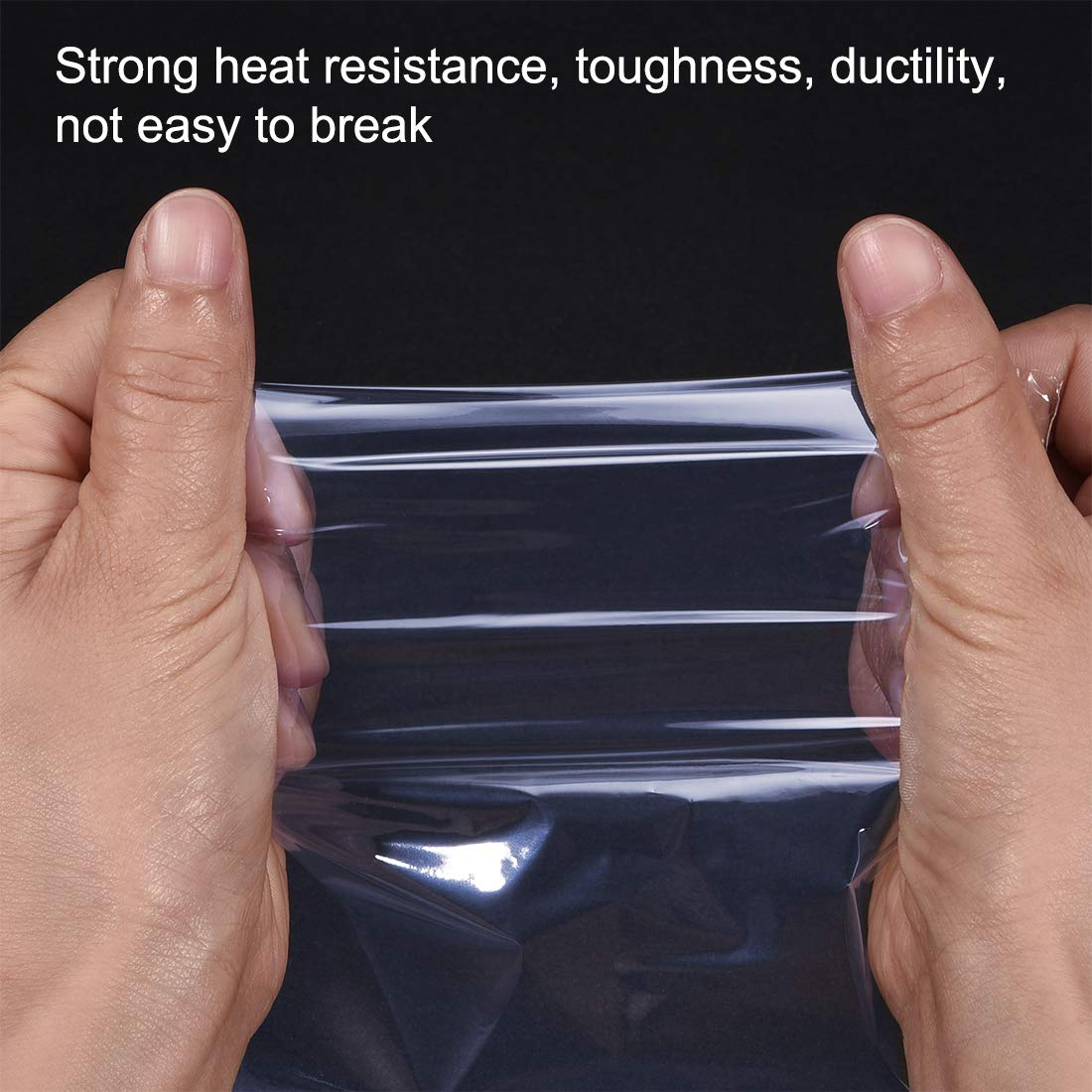 uxcell Shrink Bags 10x6.5 inch 100pcs Shrinkable Wrapping Packaging Bags Industrial Packaging Sealer Bags PVC Heat Shrink Wrap Bags
