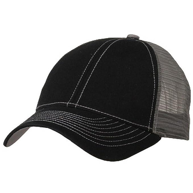 1dfca3e4004a3 e4Hats.com Low Profile Structured Trucker Cap-Black Grey at Amazon Women s  Clothing store