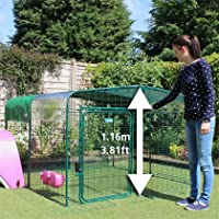 Omlet Outdoor Cat Run - Fully Enclosed, Secure Steel Mesh - Green - 1.8m x 1.8m x 1.15m