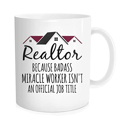 ChillThreads Realtor Coffee Mug Closers Best Funny Gift For Real Estate Agent Tea Cup