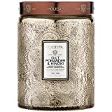 Voluspa Gilt Pomander and Hinoki Large Embossed Glass Jar Candle, 16 Ounces