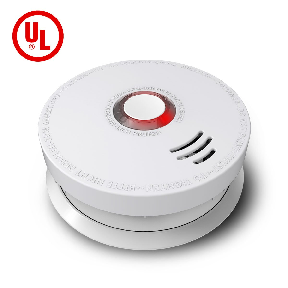 Ardwolf GS528A Battery-Powered Smoke and Fire Alarm with UL Listed