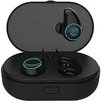 Arbily Auricolari Wireless Cuffie Bluetooth 5.0 Mini Cuffie in Ear con Scatola Ricarica Auricolare Stereo Invisibile Cancellazione del Rumore Touch Control Palestra Sport Gym con Microfono
