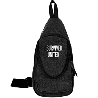 I Survived United Fashion Men's Bosom Bag Cross Body New Style Men Canvas Chest Bags
