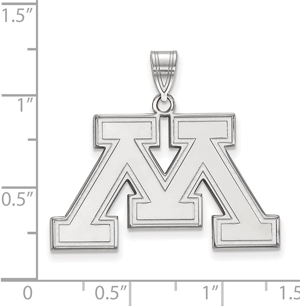 Collegiate University of Minnesota Sterling Silver LogoArt University of Minnesota Large Pendant
