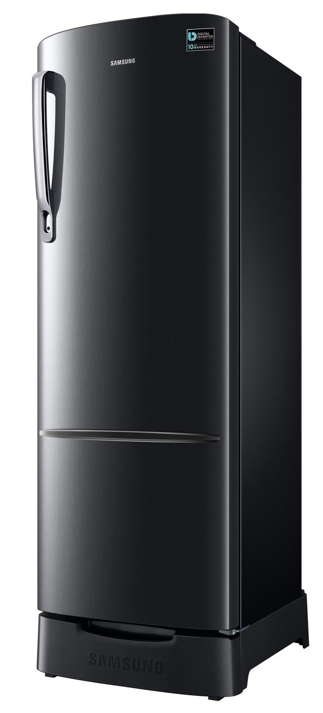 Samsung 255 L 3 Star Direct Cool Single Door Refrigerator(RR26N373ZBS/HL,  Black Inox, Inverter Compressor)