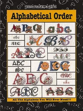Alphabetical Order - Cross Stitch Pattern