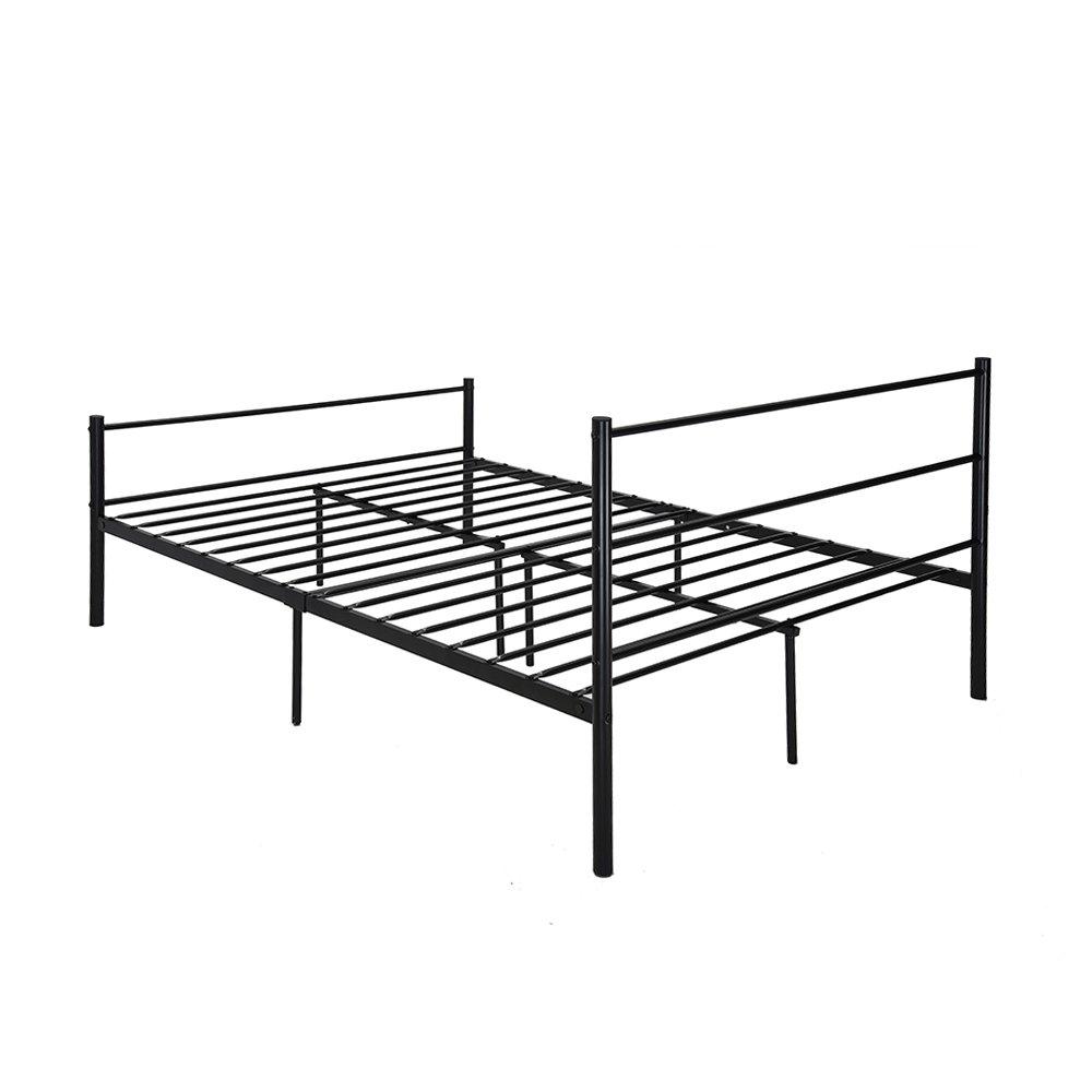 Amazon.de: Metall Plattform Bett Rahmen mit Kopfteil Doppelbett ...