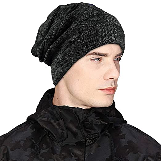 1cff7fe2 ZIQIAN Men Women Slouchy Thick Beanie Warm Knitted Hat Ladies Winter Loose  Knit Ski Cap
