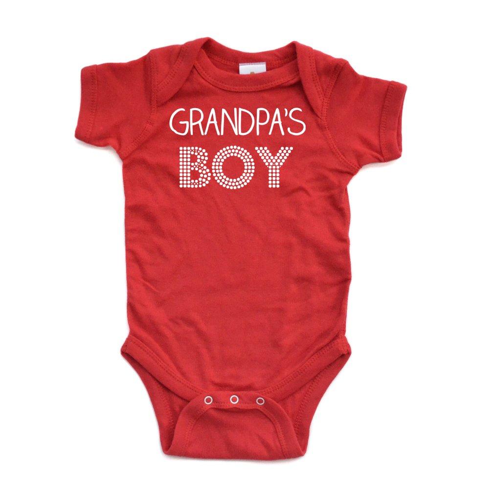 【感謝価格】 Apericots Grandpa 's Boy Boy Sweet半袖ベビーボディスーツ Grandpa Newborn Apericots レッド B01DB79AQ8, 文政五年創業九谷焼窯元 鏑木商舗:5ca9d0a9 --- a0267596.xsph.ru