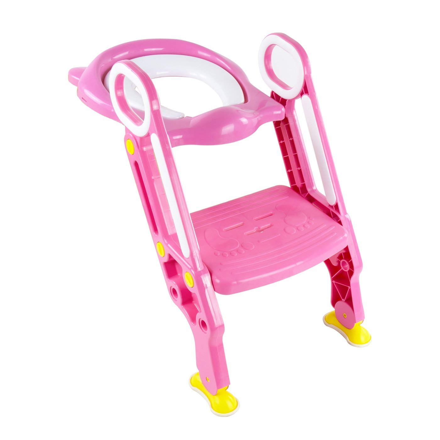 Baby Potty Training - Toilet Seat Potty Ladder with Steps (Pink) SQ Pro