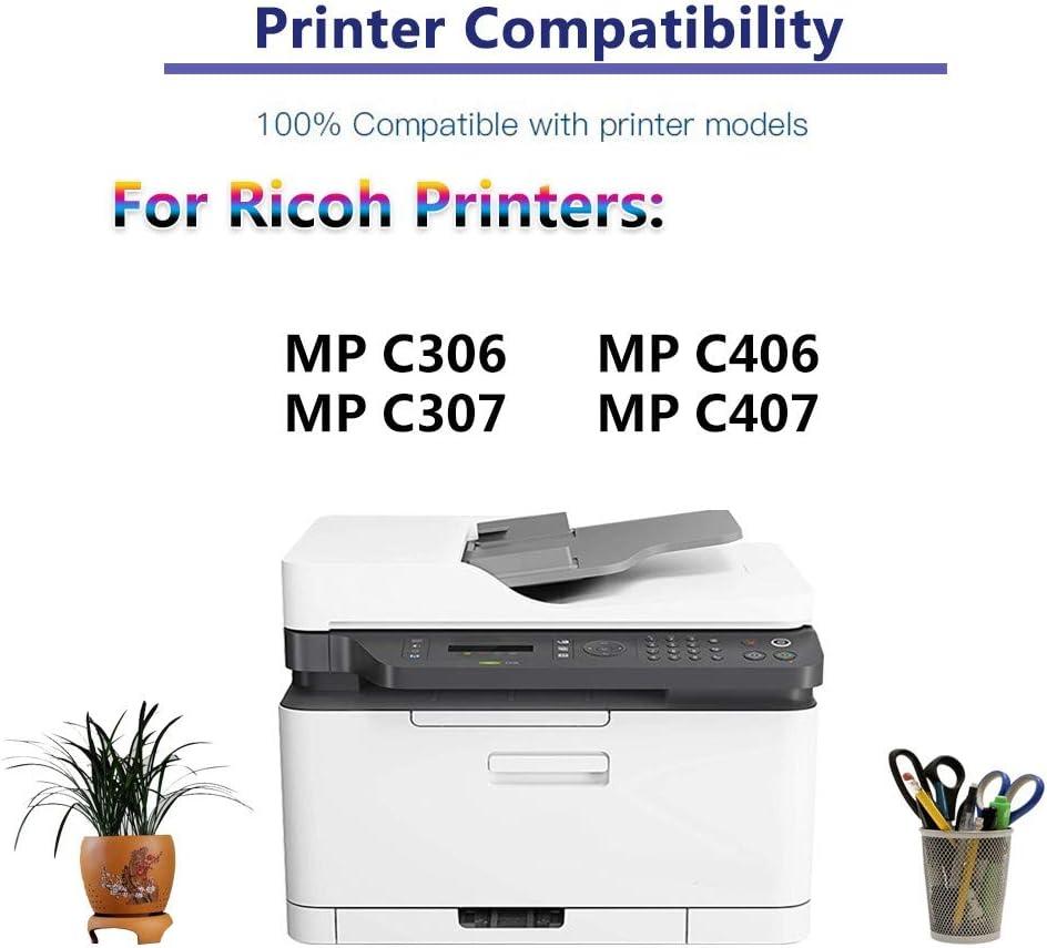 Replacement for Ricoh 842092 842094 842093 Color Toner Cartridge MP C407 Printer Toner Cartridge High Capacity C+Y+M MP C307 MP C406 3-Pack Compatible SP MP C306