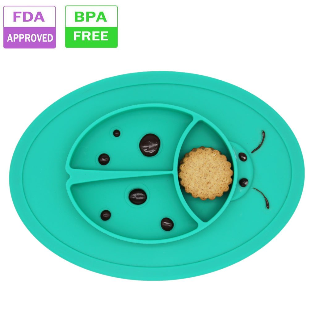 Amazon.com : Silicone Baby Placemat Bowl-Highchair Feeding Tray ...