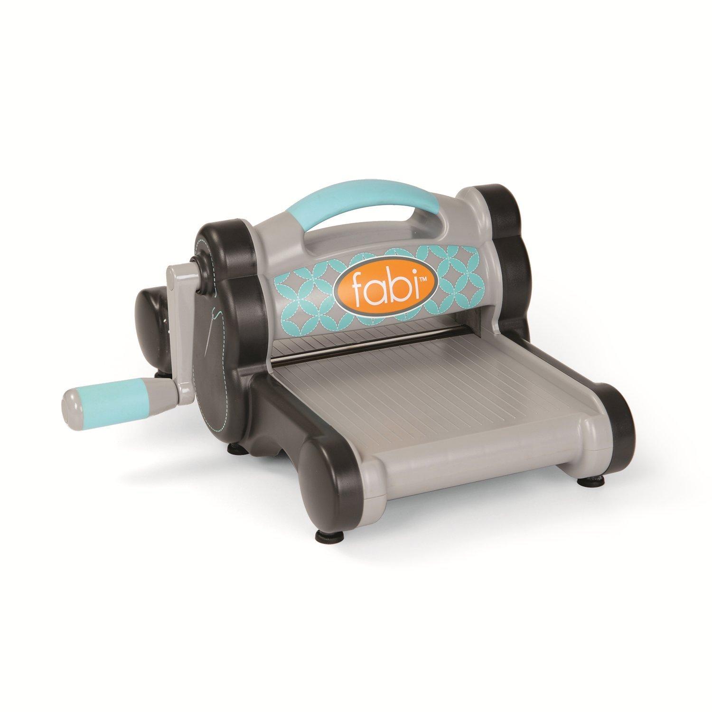 Sizzix 659500 Fabi Cutting/Embossing Machine Starter Kit, Gray/Turquoise