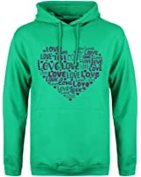 Love Typography Heart - Valentines Day Mens Hoodie