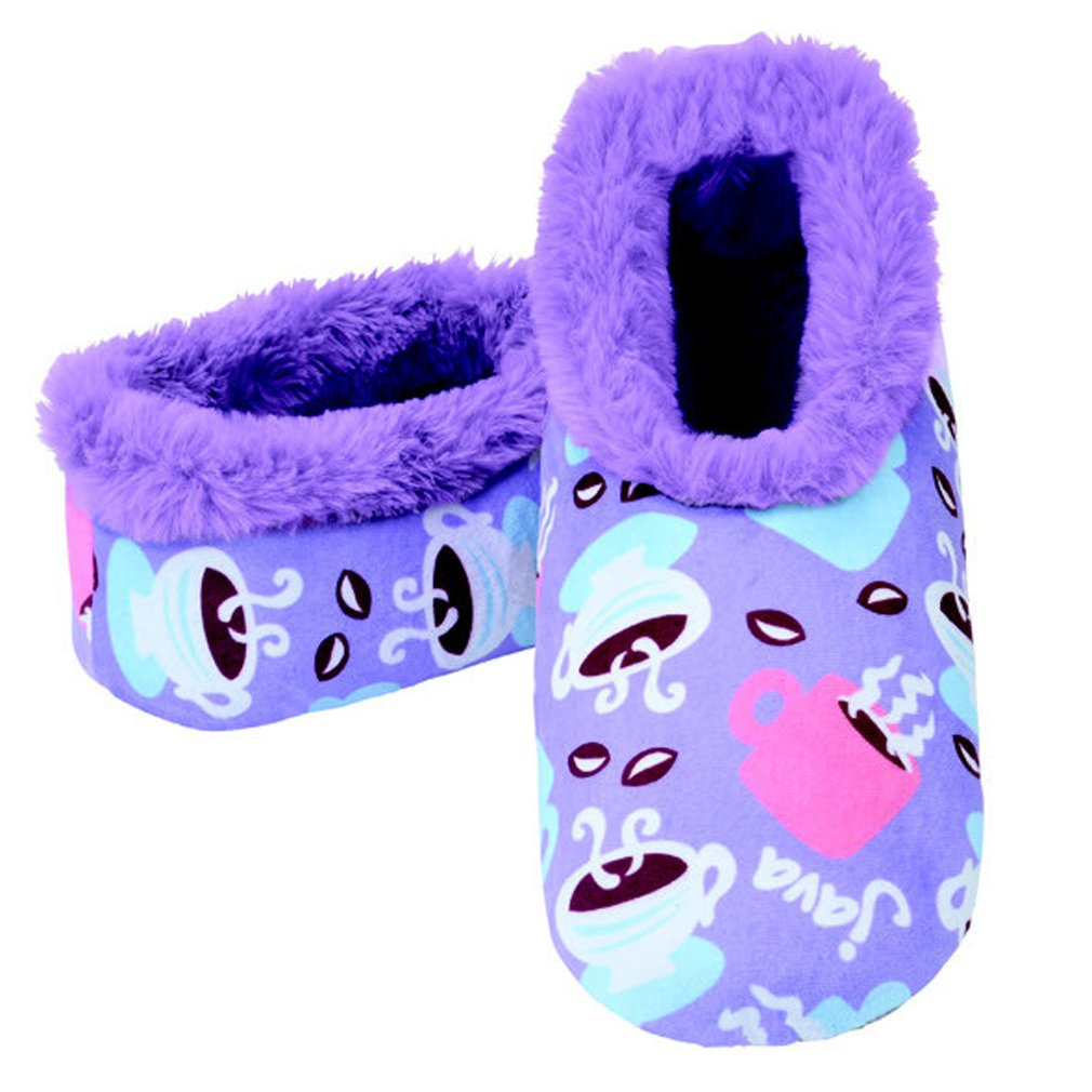 Snoozies Womens 2G Furry Nice Cozy Sherpa Non Skid Slipper Socks - Java Joe, Medium