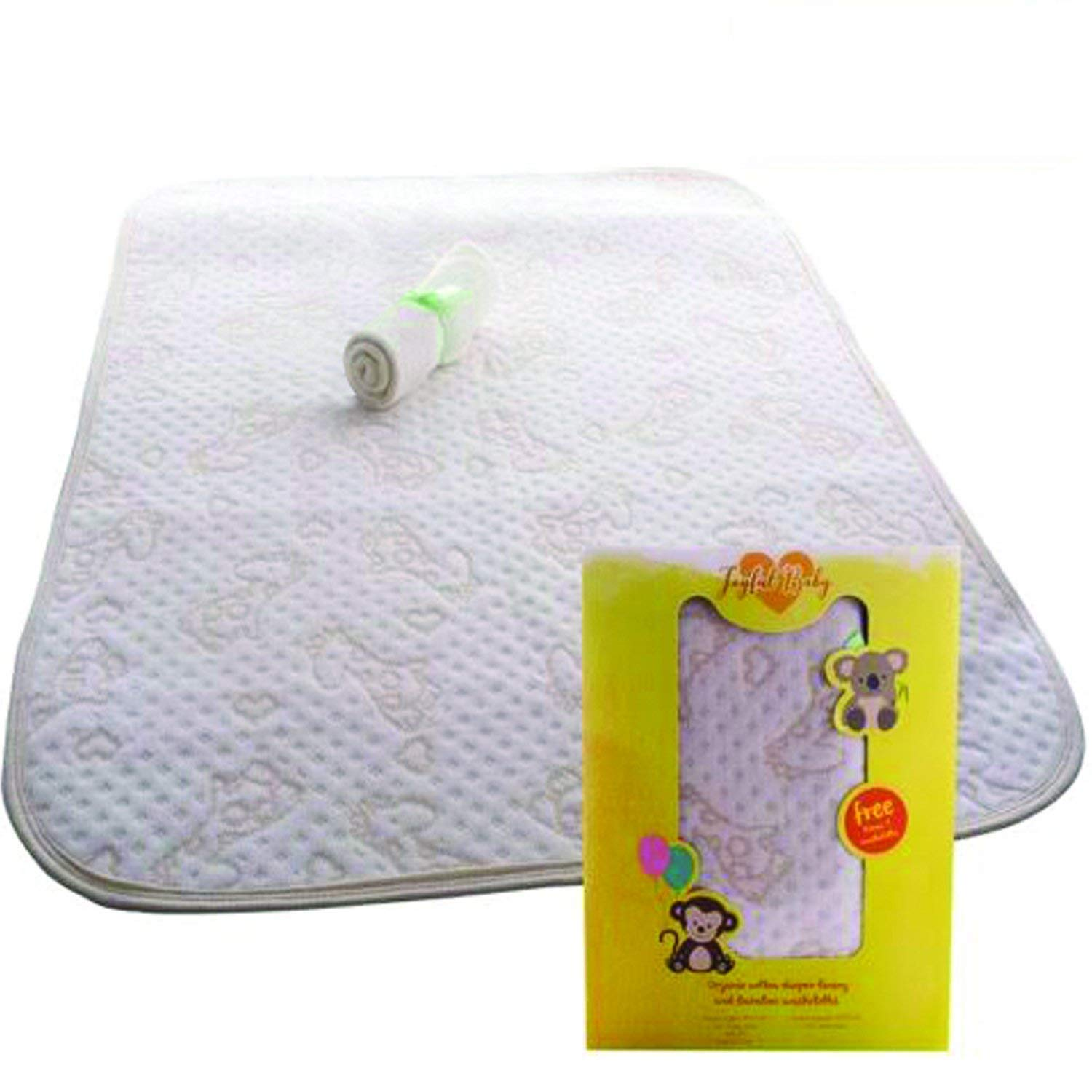 100% Organic Changing Pad Liner - Ultra Premium, No Chemical Dyes, Extra Thick, Long & Wide - Portable and Waterproof Joyful Baby