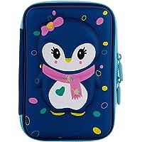 Vikas gift gallery Premium Stylish Unicorn owl Print Large Capacity Hardtop EVA Pencil case Organizer School Kids Girl Women Pen Holder Pouch Multipurpose ( Unicorn )