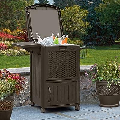 Suncast Cooler Cart with Cabinet