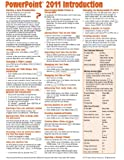 PowerPoint 2011 for Mac: Introduction Quick Reference Guide (Cheat Sheet of Instructions, Tips & Shortcuts - Laminated Card)