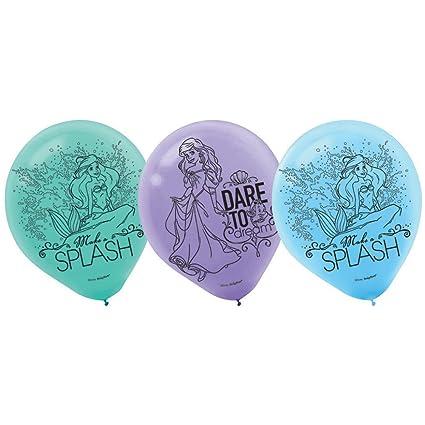 Amazon.com: Ariel la Sirenita globos de látex (6ct): Toys ...