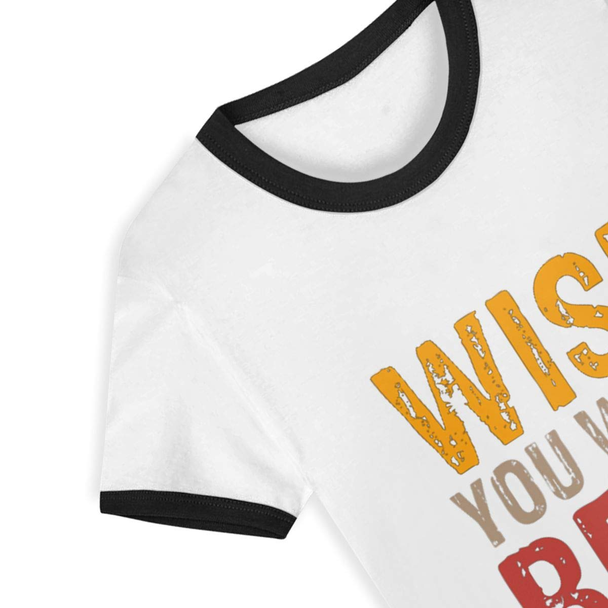 CY SHOP Wish You were Beer Happy Childrens Boys Girls Contrast Short Sleeve T-Shirt