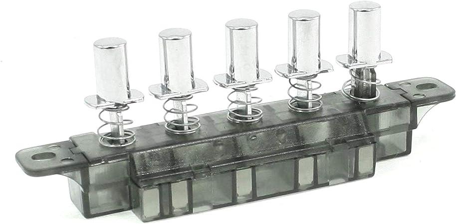 COMEYOU MQ165 Interruptor del Tablero de Teclas de CA 250V 4A 5 Pulsador Tipo de Piano Interruptor del Tablero de Teclas para Campana extractora: Amazon.es: Hogar