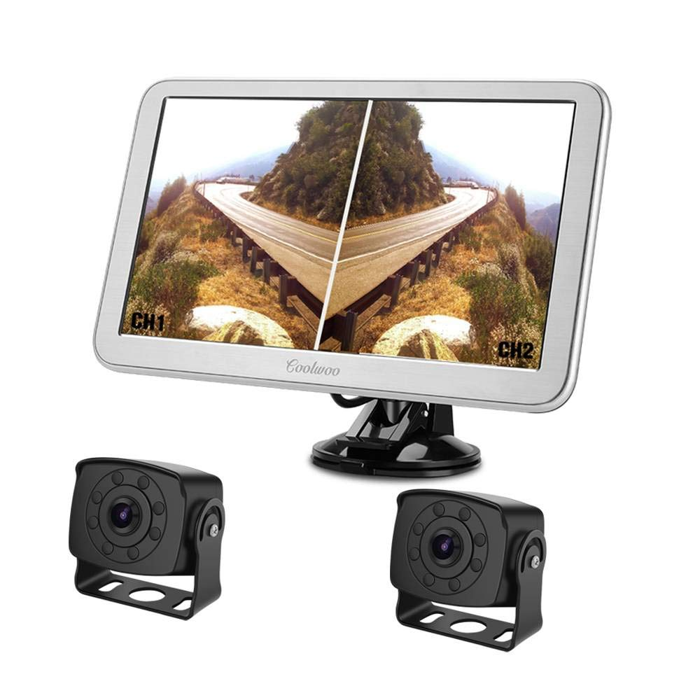 Amazon.com: RV Backup Camera with Upgraded 9inch Split ...