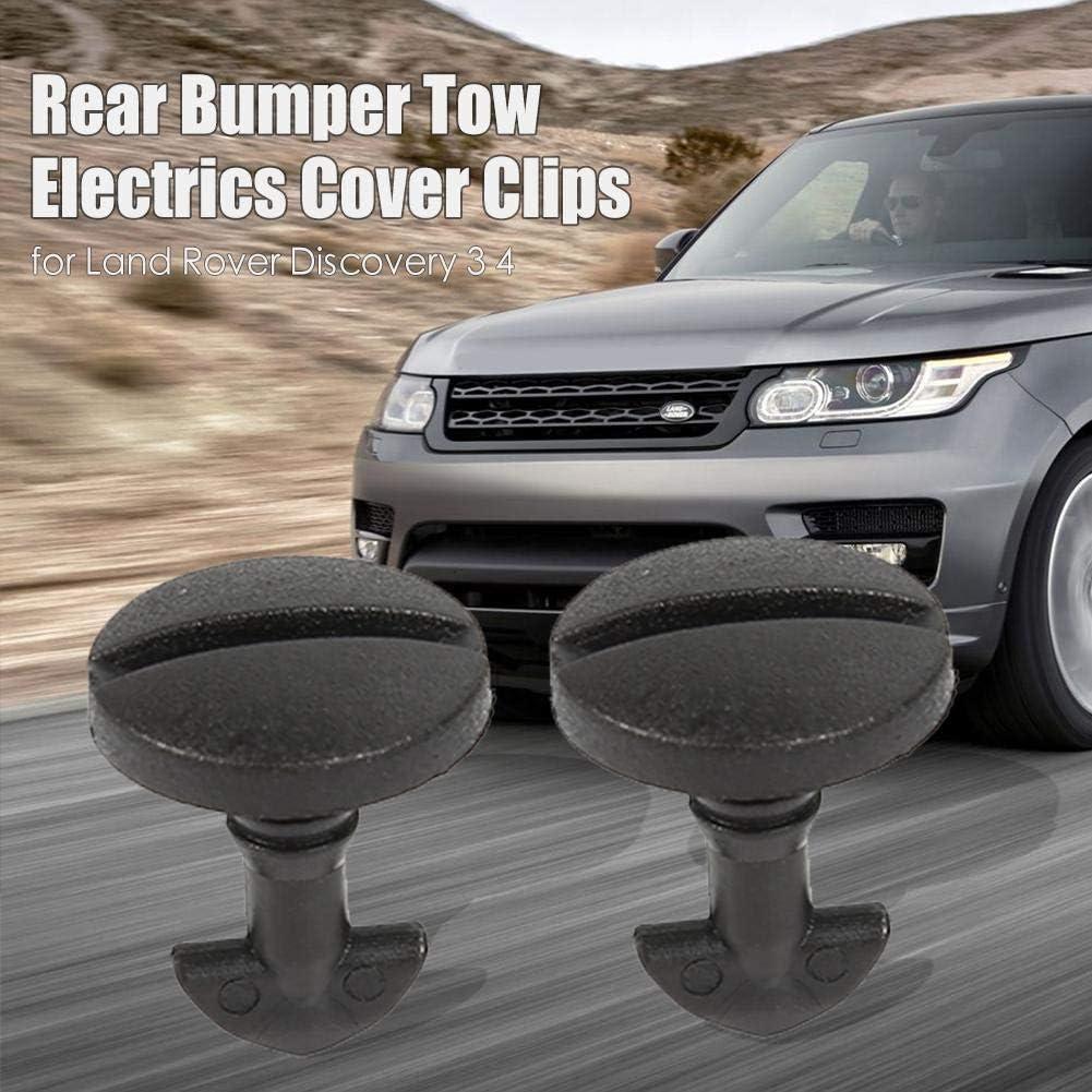 /Él/éments de Cache de remorquage de Pare-Chocs arri/ère Ahomi 2pcs pour Land Rover Discovery 3 4