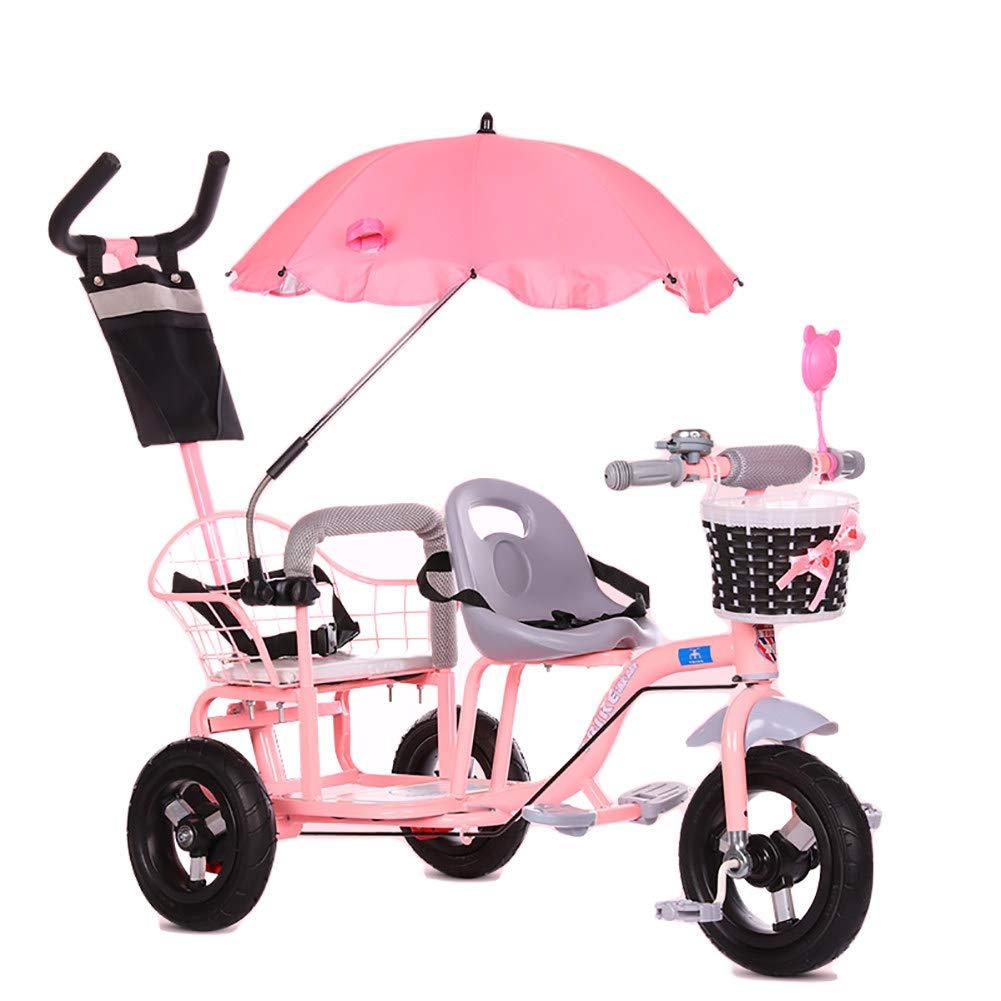 Triciclo doble CHEERALL Rosa 1-6 años