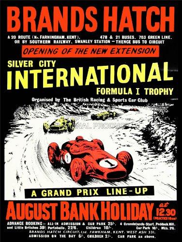 SPORT ADVERT MOTOR FORMULA ONE TROPHY GRAND PRIX SILVER CITY UK 30x40 cms ART POSTER PRINT PICTURE CC6867