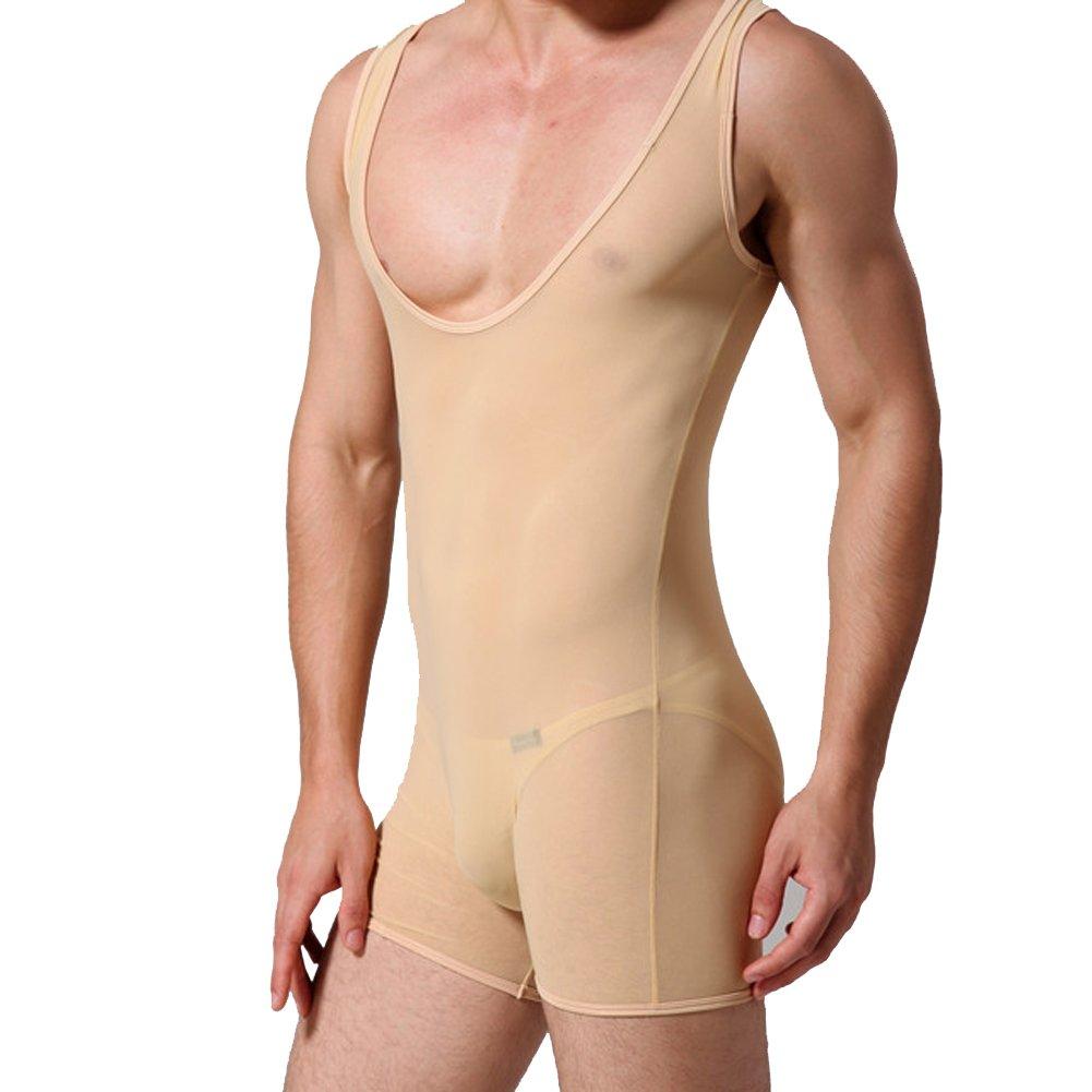 33cfd3ab025 JJ Store Men s One-Piece Bodysuit Jumpsuit Stretchy Undershirt Underwear   Amazon.co.uk  Clothing