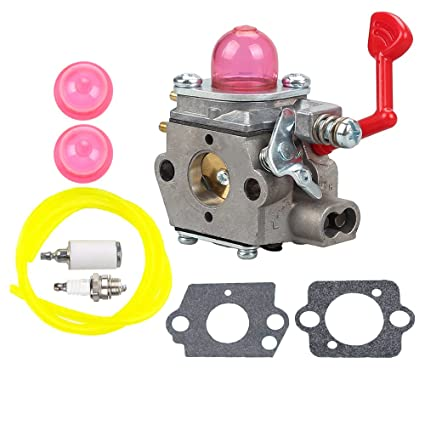 Buckbock Wt 875 Carburetor With Fuel Line Filter Spark Plug Kit For Craftsman Poulan Pro Blower Mcculloch Blower Mac Gbv325 M325 M320 Mc200vs Blower