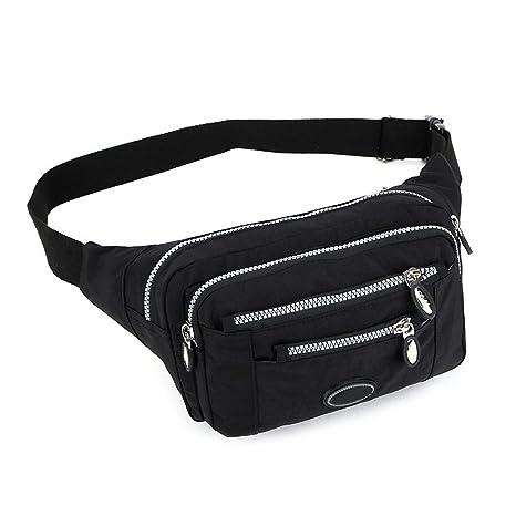 Waist Pack Bag Men s Waist Pouch Casual Women s Fanny Pack Canvas Bag Solid  Money Belt Unisex 7ccf0b053