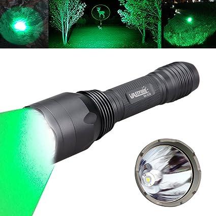Tactical UV Green Red LED Flashlight Tracker Hog Hunting Torch Offset Gun Mount