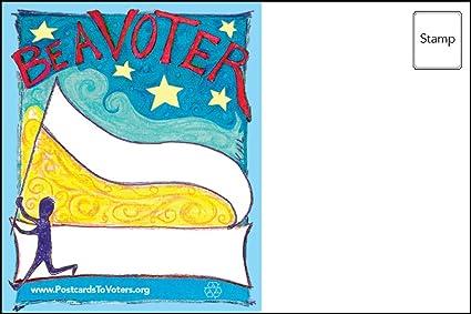 amazon com be a voter postcards flying banner design bulk set