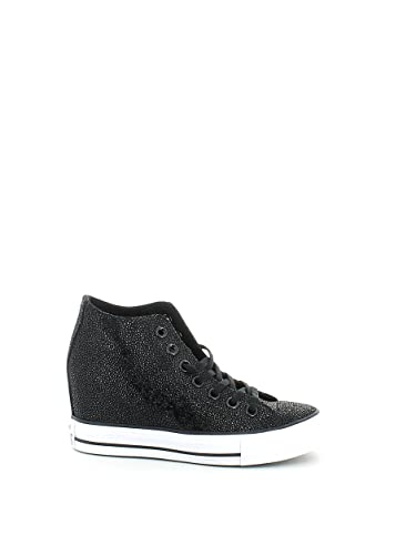 Converse for Women Chuck Taylor All Star Leather Luxury Shroud Black Sneakers Online Cheap 7629187